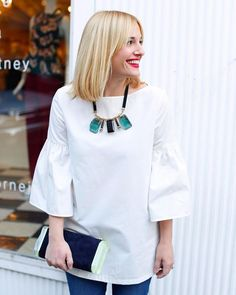 Statement Necklace! Stacy Smallwood, owner of King Street in Charleston