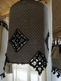 The Gessica lampshade, made of Busatti fabric and lace.