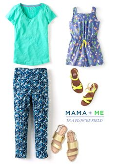 Mama + Me: Field of Flowers Outfit | Oh Joy + Boden (see sources in comment section)