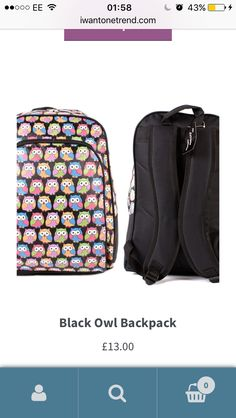 Owl Backpack, Take That, Backpacks, Bags, Stuff To Buy, Jewelry, Handbags, Jewels, Taschen