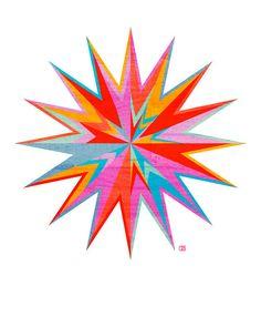 Starburst Geometric Star Print
