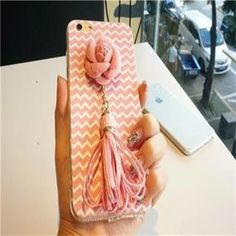 Pink Flower Tassel Wave Pattern Iphone 6/6s Case