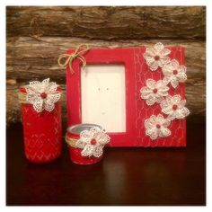 New Distressed Red Valentine's Day gift set. Just added this morning!