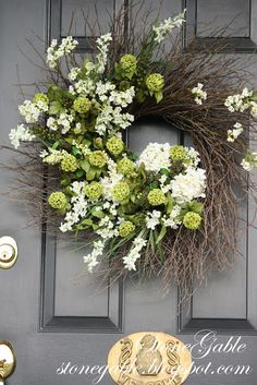 """Welcoming guest to our homes begins before we open our door! A beautiful wreath on our front door says, """"We have been expecting you… WELCOME""""! It also makes a very good first impression! And first impressions are often lasting ones! I don't scrimp on a door wreath. Nothing small or demure… I want curb appeal! …"""