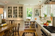 Kitchen Transformation - traditional - Kitchen - Burlington - Smith & Vansant Architects PC - love that country home feel. Rustic Kitchen Design, Farmhouse Kitchen Decor, Kitchen Designs, Kitchen Ideas, Farmhouse Style, White Farmhouse, Modern Farmhouse, Kitchen Photos, Kitchen Country