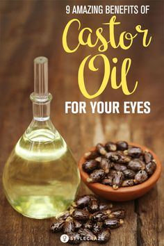 Natural Remedies For Hair Growth 9 Amazing Benefits Of Castor Oil For Your Eyes - One of the most important ingredients used in Ayurvedic remedies, castor oil treats a plethora of eye ailments. Here's 9 benefits of castor oil for eyes! Castor Oil For Eyes, Castor Oil Uses, Castor Oil Benefits, Castor Oil Eyelashes, Ayurvedic Remedies, Health Remedies, Natural Remedies, Ayurvedic Healing, Holistic Remedies