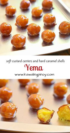 A Filipino candy with soft custard centers and crisp caramel shells