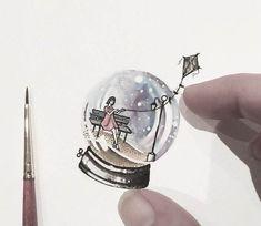 Snow Globe painting by Eva Krbdk