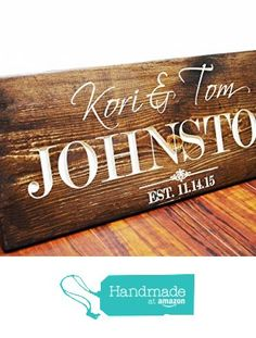 THIS IS EXACTLY WHAT I WANT!! But Longer. I want people to sign the back as a guest book.  Personalized Family Name Sign Wedding Gift Custom Carved Wooden Signs Last Name Décor Established Wood Plaque Engraved from Bravood Wood Design http://www.amazon.com/dp/B017U2V4F0/ref=hnd_sw_r_pi_dp_z4-5wb02BWEAZ #handmadeatamazon