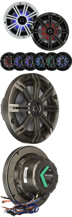Marine Audio: Kicker 43Km654lcw 6.5 Inch 195-Watt 4-Ohms Km-Series Led Marine Power 4 Speakers -> BUY IT NOW ONLY: $249.95 on eBay!
