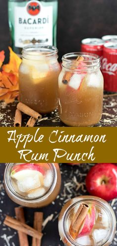 Fall Drinks Alcohol, Drinks Alcohol Recipes, Yummy Drinks, Alcoholic Drinks For Fall, Spiced Rum Drinks, Spicy Drinks, Holiday Drinks, Rum Punch Recipes, Easy Drink Recipes