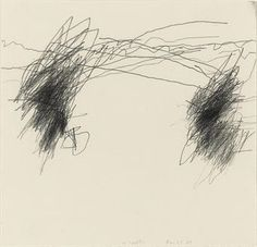 "William Anastasi subway drawings -      ""Anastasi's unsighted subway series dates from 1977 into the nineties....  Anastasi allowed the rhythms of the moving train—its starts and stops, accelerations and decelerations—to generate the lines on the paper...."""