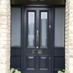 Awesome cottage front doors - take a peek at our story for more plans! Timber Front Door, Green Front Doors, Front Doors With Windows, Arched Doors, Painted Front Doors, Front Door Colors, Entry Doors, Cottage Front Doors, Victorian Front Doors