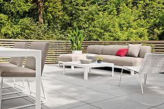 Designed for outdoor living, Crescent features a fully upholstered seat and back made with antimicrobial outdoor foam and trusted Sunbrella® fabric.
