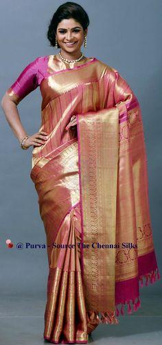 ❀Purva❀ - Bridal Silk Saree - Source - The Chennai Silks