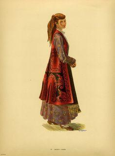 Φορεσιά Ζαγορίου. Costume from Zagori. Collection Peloponnesian Folklore Foundation, Nafplion. All rights reserved.