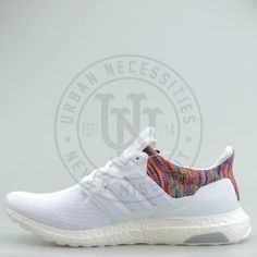 f21ee3e7d Mi Adidas Ultra Boost  Rainbow  White-Urban Necessities Adidas Boost White
