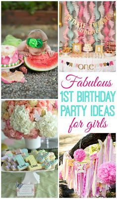Baby Girl Turns One. 1st Birthday Party ... : birthday decoration ideas for 1st birthday - www.pureclipart.com