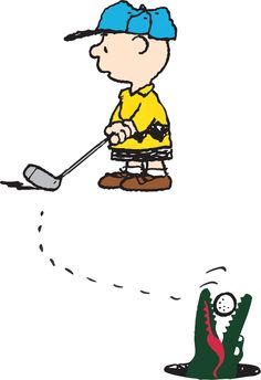 """""""Charlie Brown loves golf, but this time he might not be able to collect his ball."""" #LacostexPeanuts © 2015 Peanuts Worldwide LLC – www.specialproject.jp"""