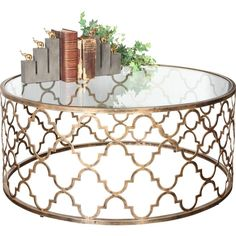Coffee Tables & Coffee Table Sets You'll Love in 2020 Stylish Coffee Table, Coffee Table Styling, Cool Coffee Tables, Round Coffee Table, Coffee Table Wayfair, Elegant Living Room, Resort Style, Quatrefoil, Home Decor Inspiration