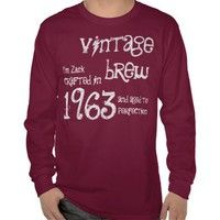 50th Birthday Gift 1963 Vintage Brew Red G203 Shirts from Zazzle.com. #tees #tshirt #sweatshirt #hoodie #longsleeve #shortsleeve #50th #1963 #customize #birthday