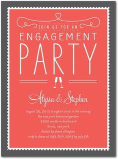 Petit Alma design, engagement party invitation
