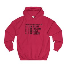 I am ready and more often than not...College Hoodie