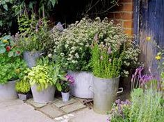 Image result for metal garden containers