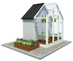 Kekkilä-Vihervaja Verso 1900x2107x2750 mm 4 m² mänty/lasi Terrarium, Terrace, Home And Garden, Cottage, Patio, Landscape, Greenhouses, Sheds, Diy