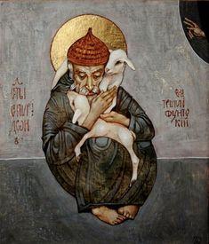 Spirydon z Tremituntu Saint Spyridon, Bishop of Trimythous Byzantine Art, Byzantine Icons, Christian Images, Christian Art, Russian Painting, Figure Painting, Religious Icons, Religious Art, Jesus Art