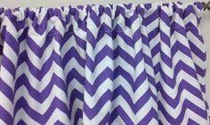 Purple hevron Window Valance  Custom Made  Great for any Room  52 x 16 #Handmade #Modern