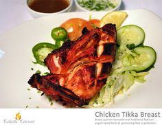 CHICKEN TIKKA BREAST Breast quarter marinated with traditional Pakistani yogurt based herbs & spices and grilled to perfection