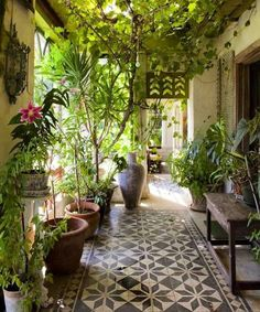 I love the idea of Bohemian style in the conservatory.