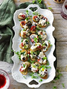 Vegetarian Appetizers, Finger Food Appetizers, Appetizers For Party, Finger Foods, Appetizer Recipes, Vegetarian Recipes, Healthy Recipes, Easy Salad Recipes, Easy Salads