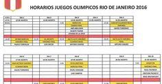 holaesungusto: PROGRAMA DE COMPETENCIA DE LOS ATLETAS PERUANOS EN RÍO 2016