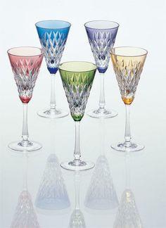 wine glass set of Japanese crystal glass