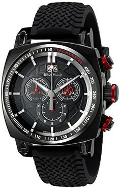 Women's Wrist Watches - Ritmo Mundo Mens 22216 Black Red Racer Analog Display Swiss Quartz Black Watch >>> See this great product. (This is an Amazon affiliate link)
