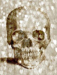 Loving Skull Canvas Print, Oliver Gal