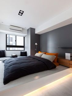 Home Interior De Mexico Nice 7 Extraordinary Minimalist Bedroom Design Idea You Must See The popularity of minimalist home design is no doubt, especially with the monochrome color palette that is increasingly in demand. Similarly, the mini. Men's Bedroom Design, Modern Bedroom Decor, Bedroom Colors, Bedroom Ideas, Trendy Bedroom, Gray Bedroom, Men Bedroom, Bedroom Furniture, Modern Mens Bedroom
