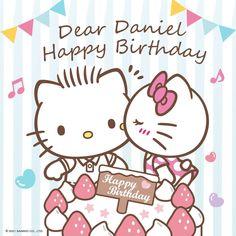 Hello Kitty Birthday, Happy Birthday, Little Twin Stars, Little Girls, Hello Kitty Wallpaper, Kawaii Drawings, Diy And Crafts, Banner, Invitations