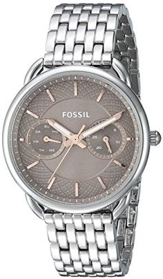 Fossil Womens ES4225 Tailor Multifunction Stainless Steel Watch ** Click image for more details. Note: It's an affiliate link to Amazon