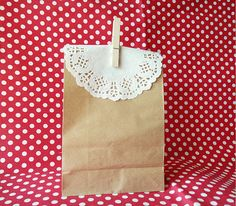 10 Set of Kraft Paper Bag / Brown Picnic Lunch by BerryandRabbit