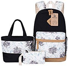 ea6bbb984190 Top Gifts for 15 Year Old Girls. Bluboon Teens Backpack Set Canvas Girls  School Bags Bookbags ...
