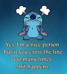 I'm a bit of a push over even my friends will tell you . But I'm learning to say no and be more defiant Lilo Stitch, Lilo And Stitch Memes, Lelo And Stitch, Cute Stitch, Funny True Quotes, Funny Relatable Memes, Cute Quotes, Funny Texts, Funny Minion Memes
