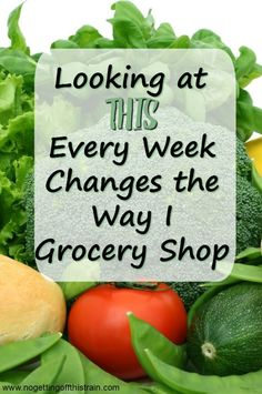 Looking at THIS every week changes the way I grocery shop! Here's how to save money on your produce and meat every time you meal plan.