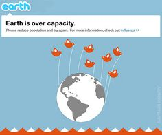 Earth is over capacity