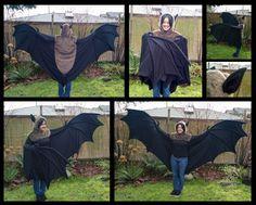Bat costume from Shagpoke Studios Cosplay Tutorial, Cosplay Diy, Halloween Cosplay, Cosplay Wings, Cool Costumes, Cosplay Costumes, Diy Bat Costume, Costume Ideas, Holidays Halloween