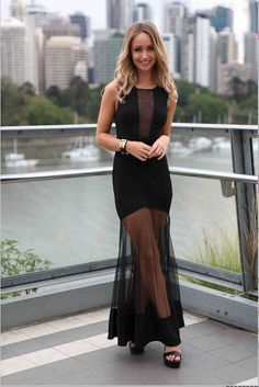 Minivestido largo malla transparente Riana - Ropa sexy y original