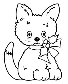 coloring pages christmas kitty christmas animals