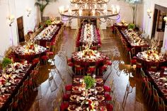 Use circles and rectagle tables for your reception! via Glendalough Manor Bride Blog